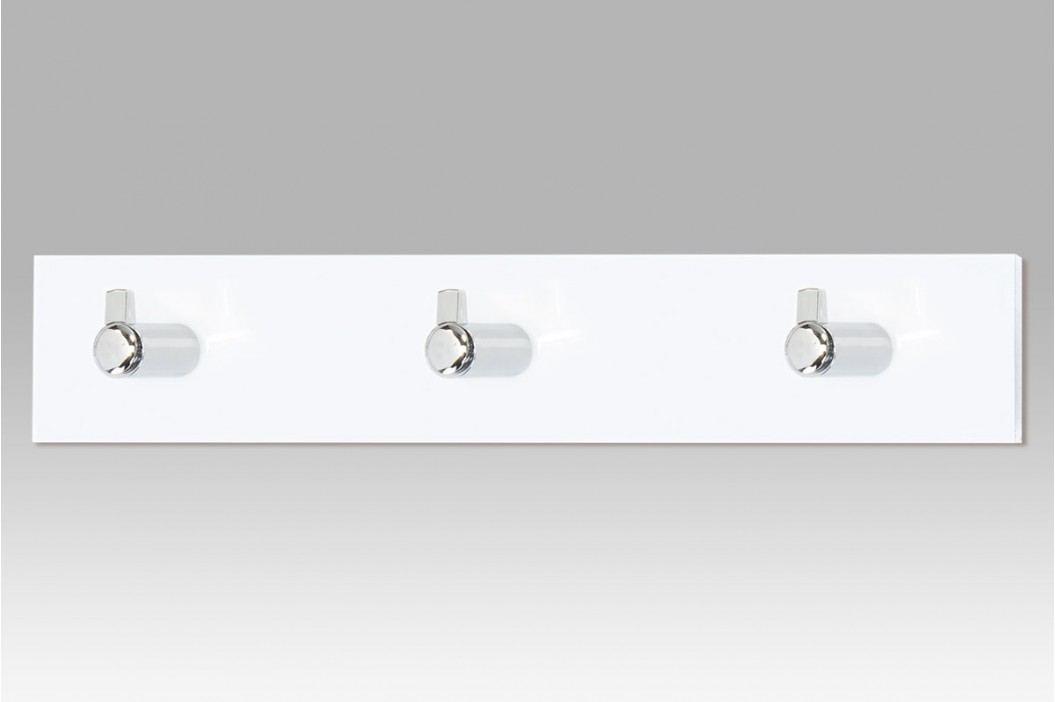 Nástěnný věšák 3 háčky bílý GC3503-3 WT
