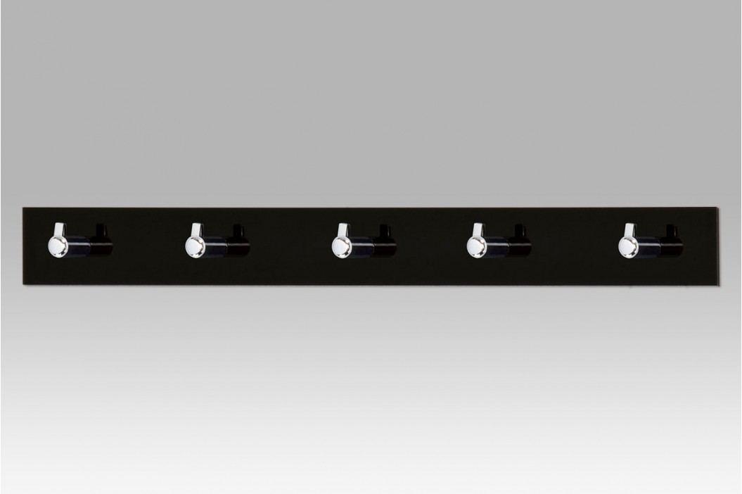 Nástěnný věšák 5 háčků černý GC3503-5 BK