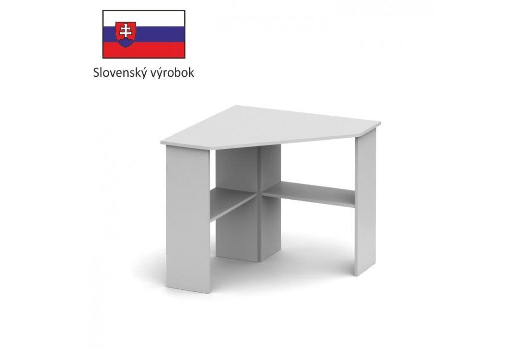 PC stůl rohový v jednoduchém moderním provedení bílá RONY NEW