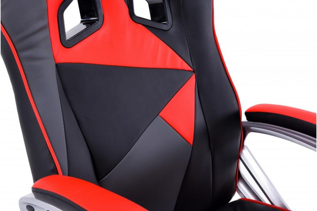 Křeslo v kombinaci černá červená a šedá F157