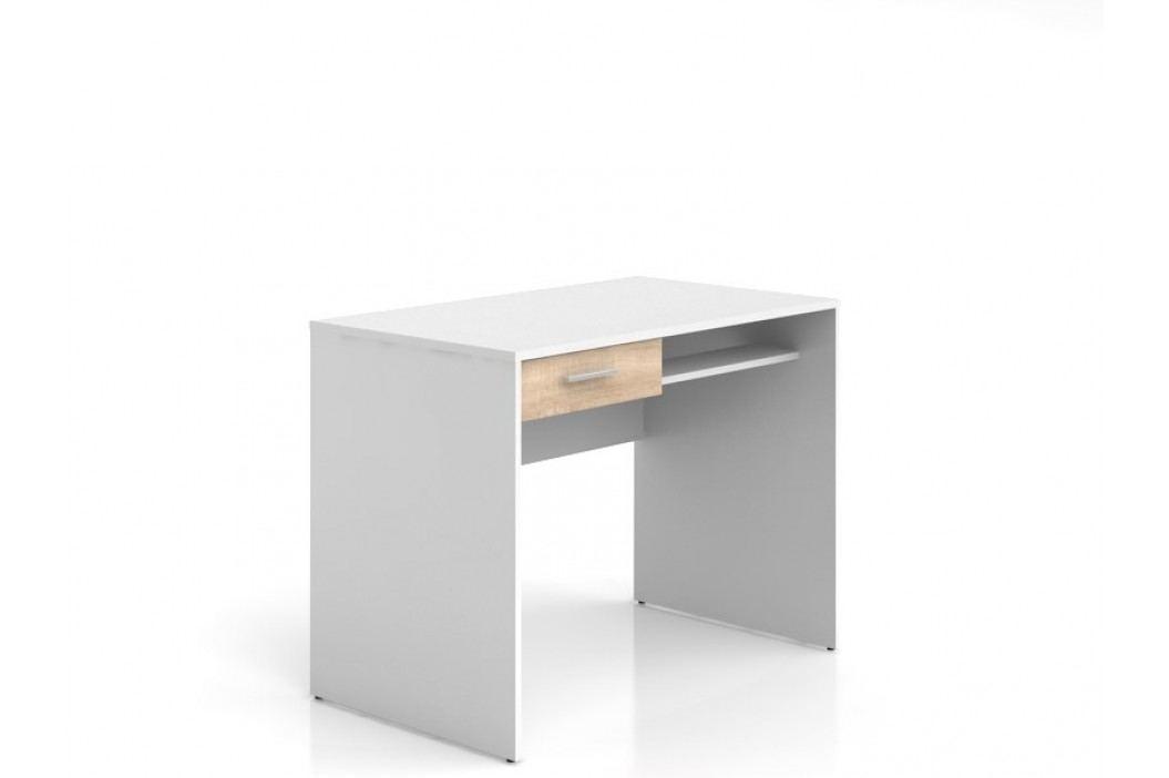 Psací stůl NEPO BIU1S bílá/dub sonoma