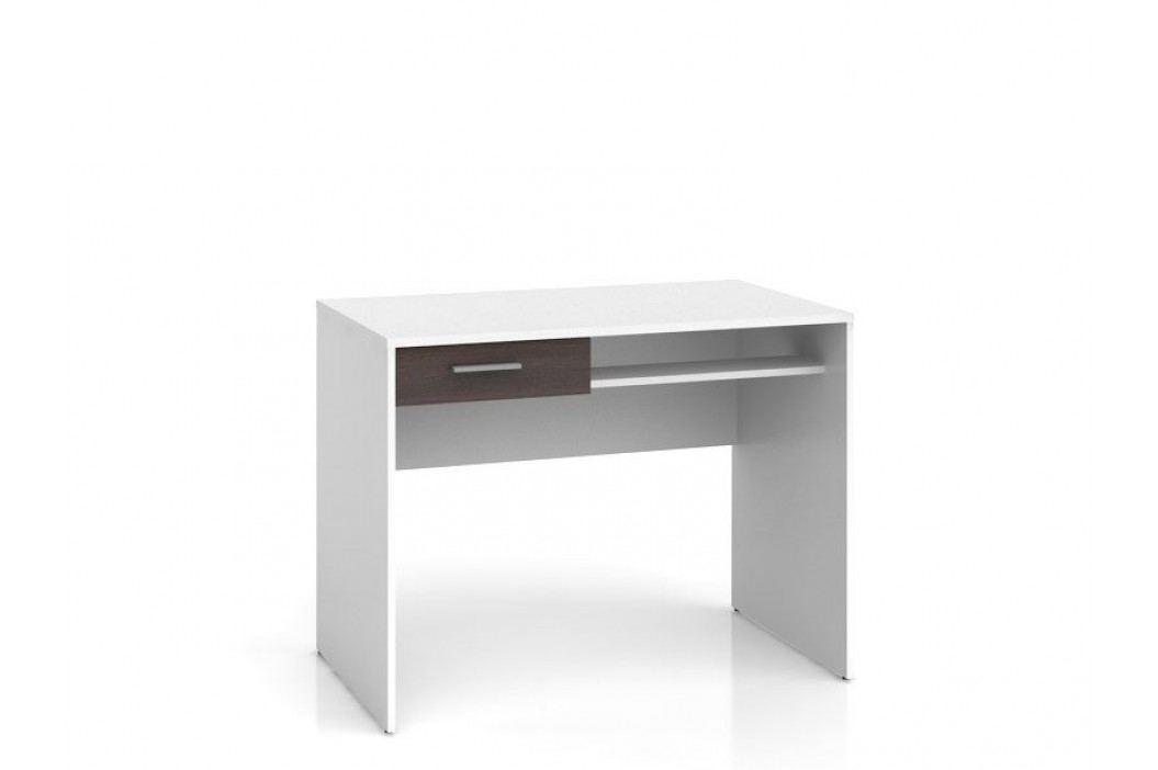 Psací stůl NEPO BIU1S bílá/wenge