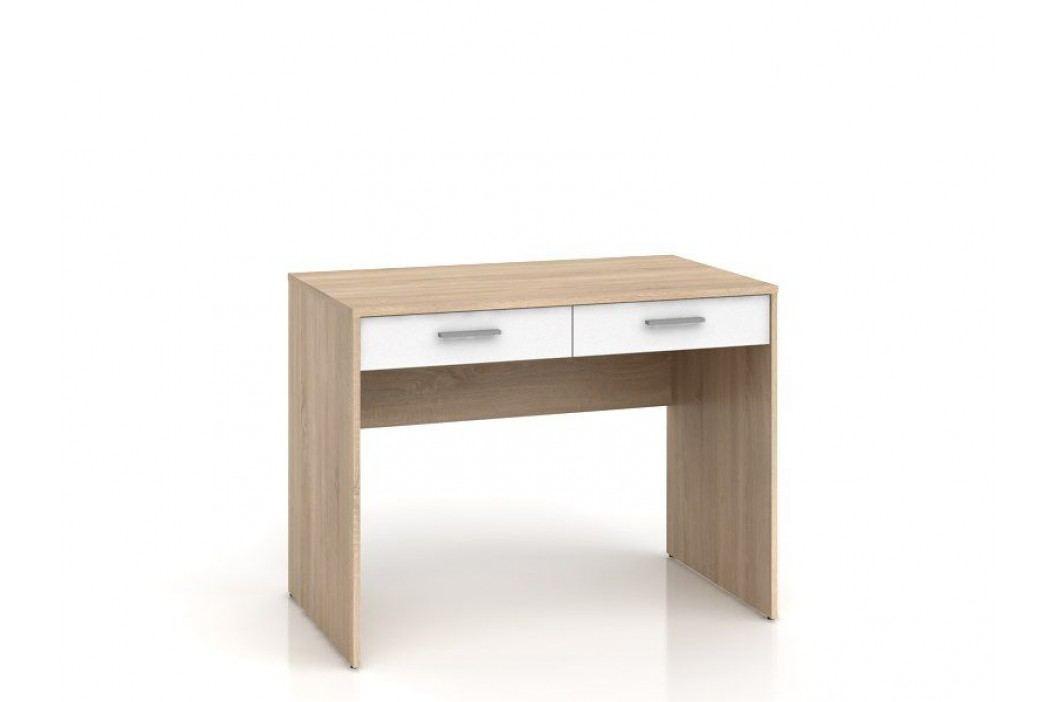 Psací stůl NEPO BIU2S dub sonoma/bílá