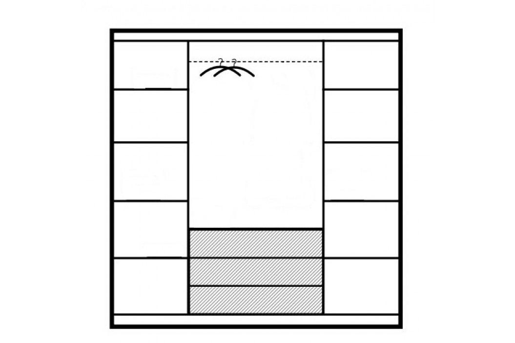 Šatní skříň KN303 D4 dub sonoma