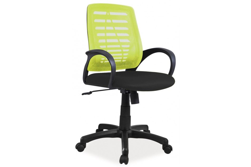 Čalouněné kancelářské křeslo v zelené barvě KN054