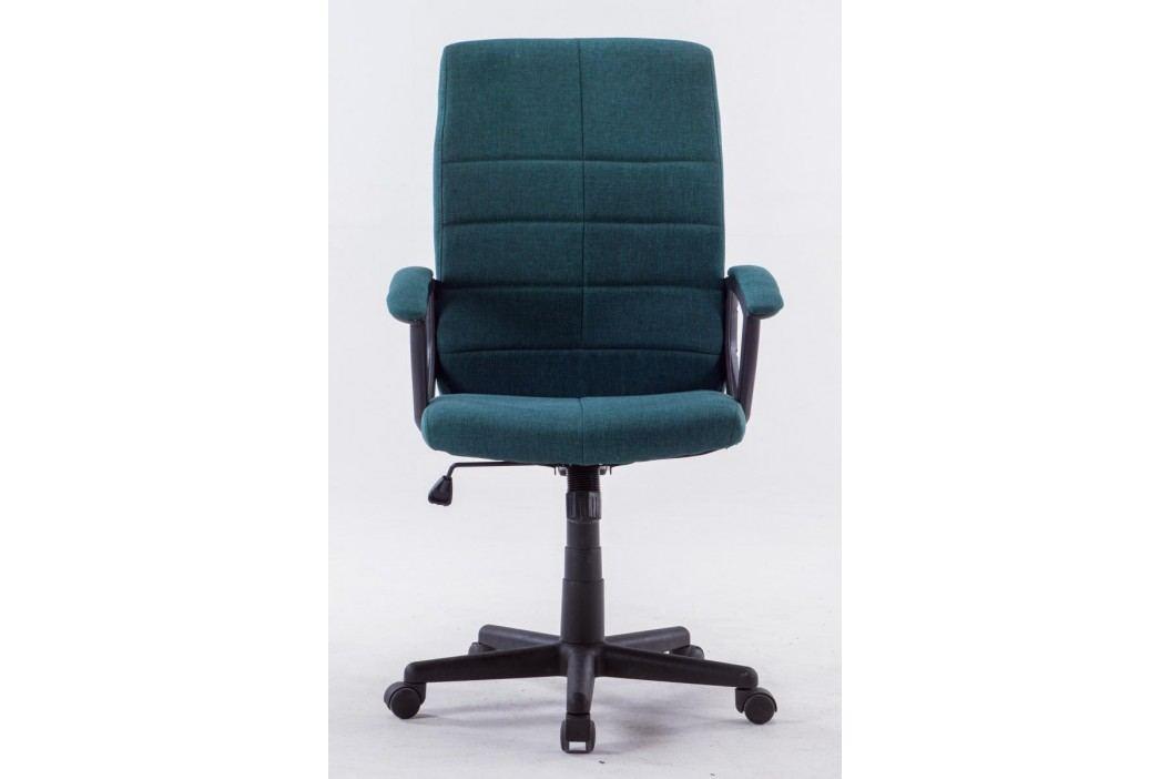 Čalouněné kancelářské křeslo zelené barvy F1031
