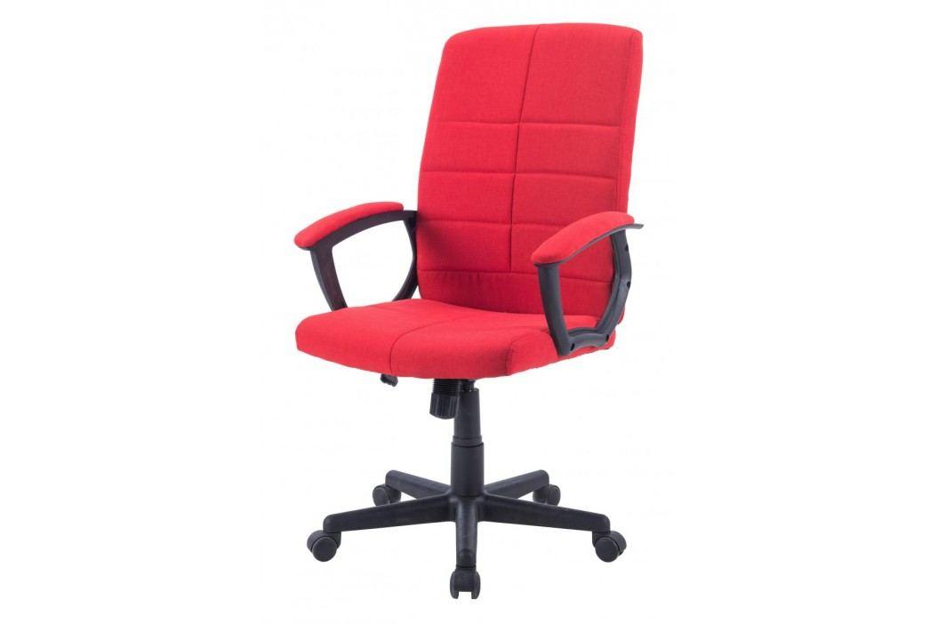 Čalouněné kancelářské křeslo červené barvy F1031
