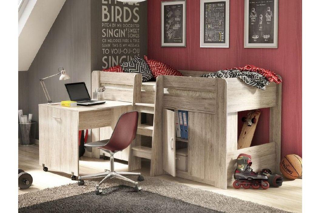 Dětská postel FUNKY SET dub san remo 90x200 cm