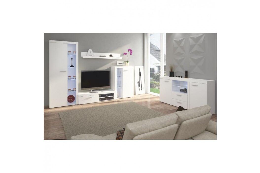Obývací stěna v trendy moderním provedení bílá ROCHESTER
