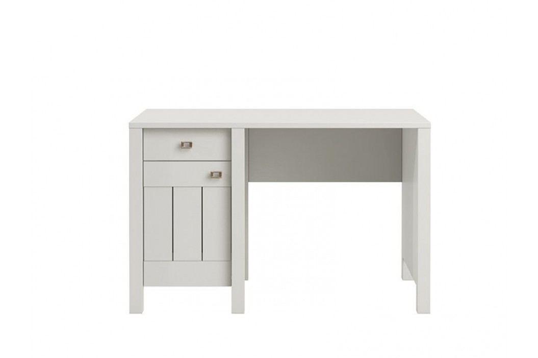 PC stolek v bílé matné barvě se stříbrnými úchytkami typ VL13  VILLA