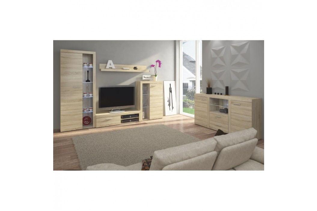 Obývací stěna v trendy moderním dekoru dub sonoma ROCHESTER obrázek inspirace