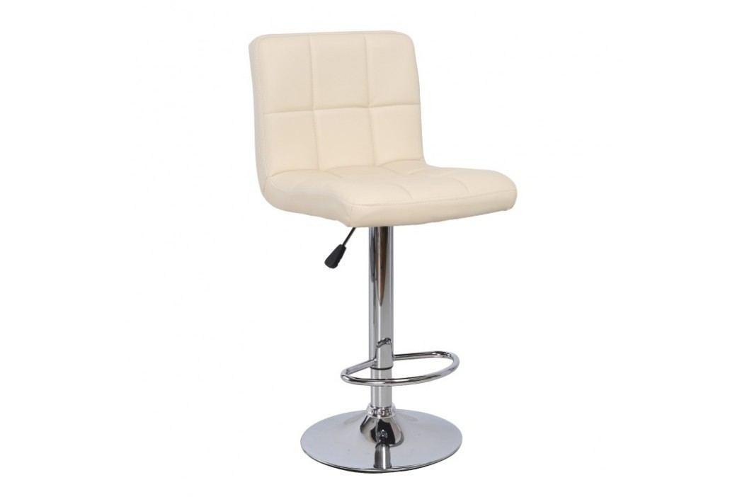 Příjemně pohodlná otočná barová židle béžové barvy TK221