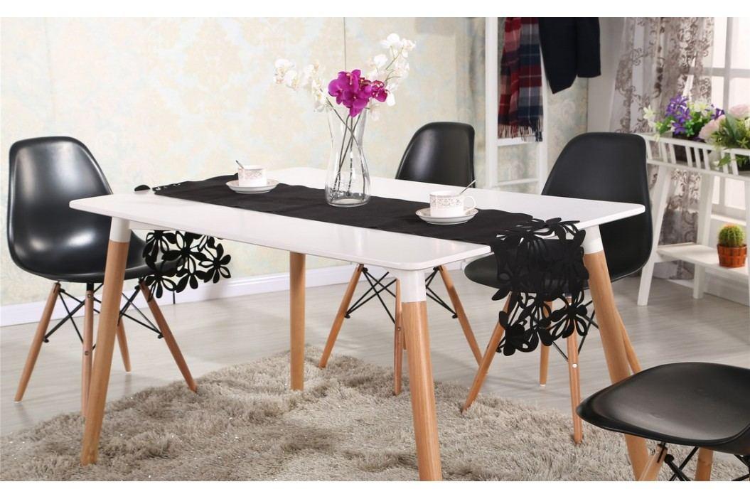 Moderní jídelní stůl 120x80 cm v bílé barvě KN002