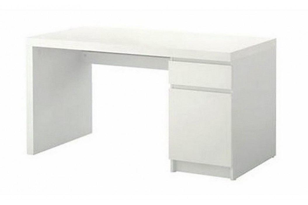 Psací stůl se zásuvkou bílý KN012