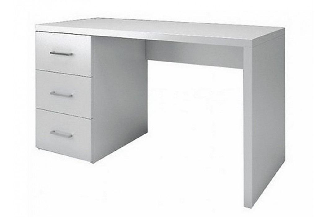 Psací stůl se zásuvkami bílý KN010