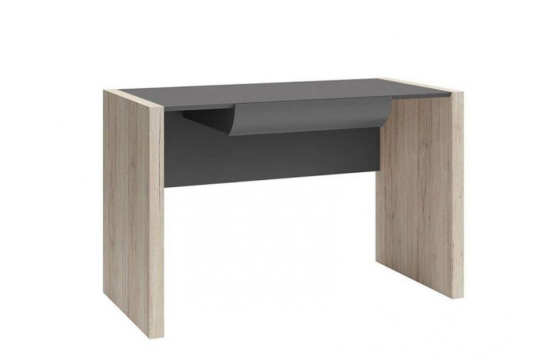 Psací stůl B05 BIU1S/120 dub san remo světlý/šedý wolfram
