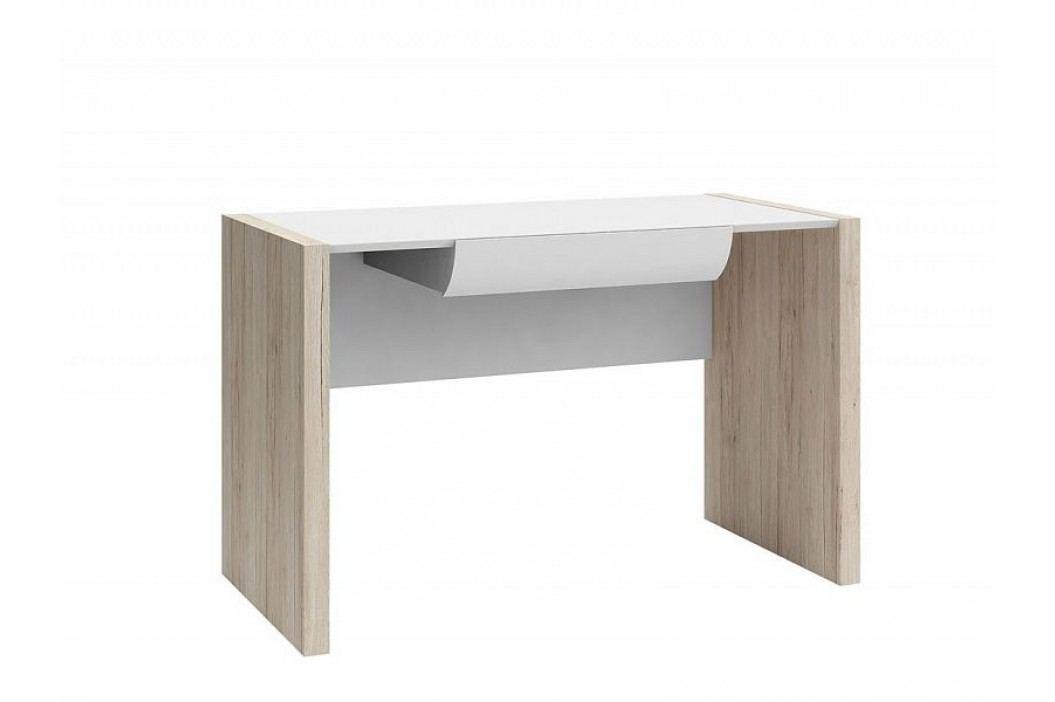 Psací stůl B05 BIU1S/120 dub san remo světlý/bílá