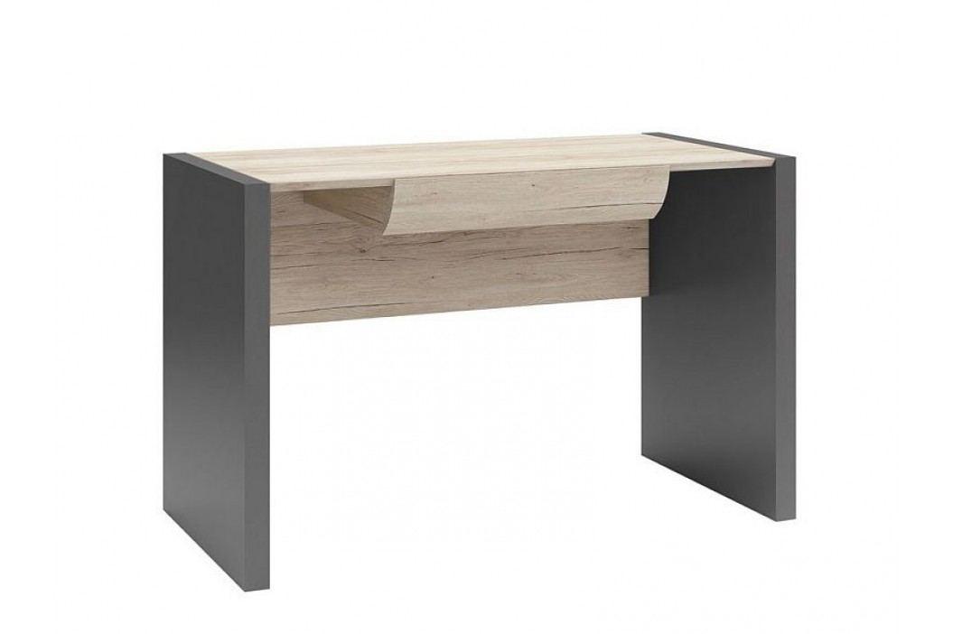 Psací stůl B05 BIU1S/120 šedý wolfram/dub san remo světlý