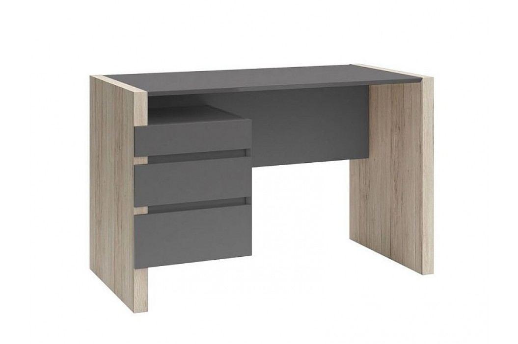 Psací stůl B05 BIU3S/120 dub san remo světlý/šedý wolfram