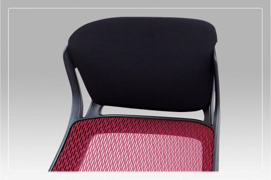 Kancelářské křeslo polohovací látka MESH černá a červená KA-G109 RED