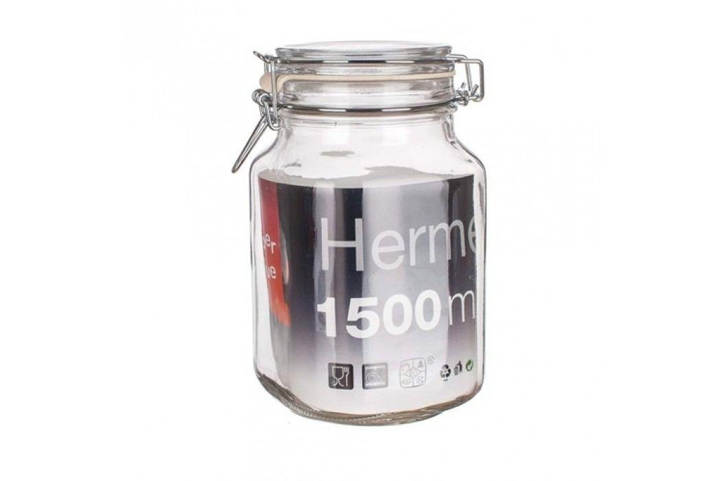 Dóza skleněná hermetická 1,5 l, skleněné víčko, SV