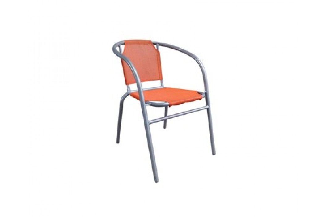 HAPPY GREEN Křesílko ocelové textilen, oranžové