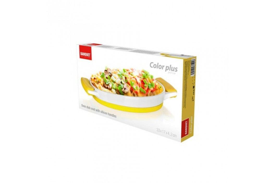 Mísa zapékací oválná COLOR PLUS Yellow 33 x 17 x 4,2 cm, se silikonovými rukojeťmi obrázek inspirace