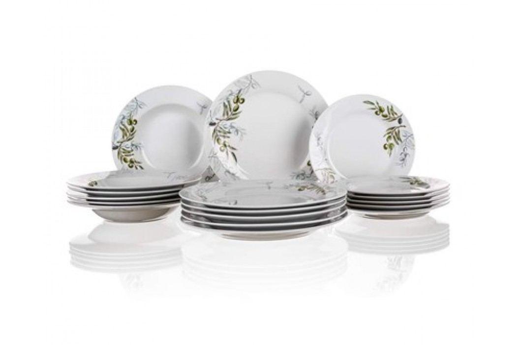Sada talířů OLIVES, 18 ks, OK