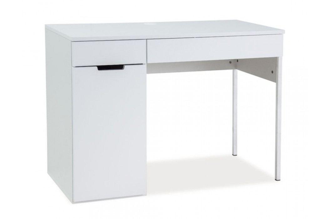 Moderní pracovní stůl v severském stylu v bílé barvě typ B3 KN071