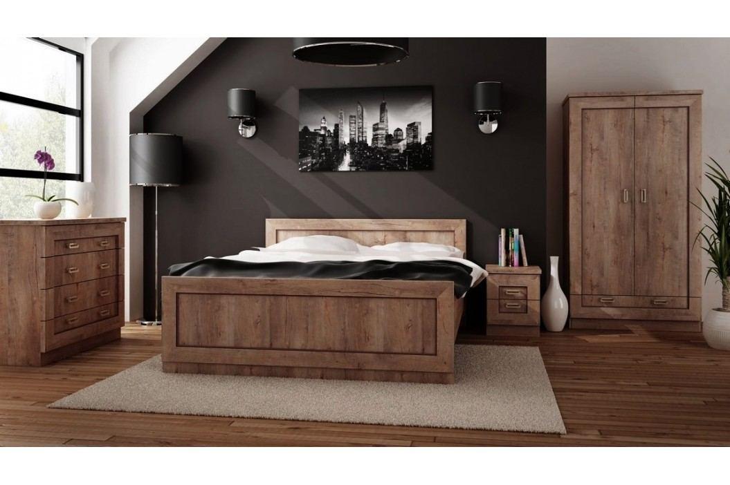 Dřevěný psací stůl v moderním dekoru dub lefkas typ T19 KN079