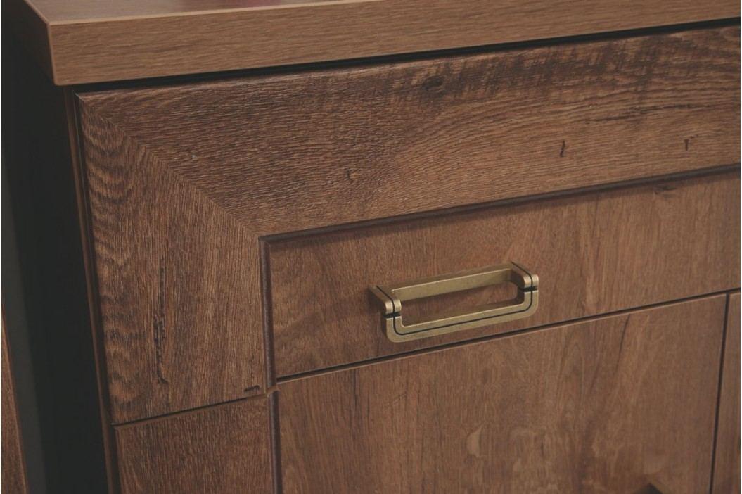 Dřevěný psací stůl v dekoru dub stoletý typ T19 KN079