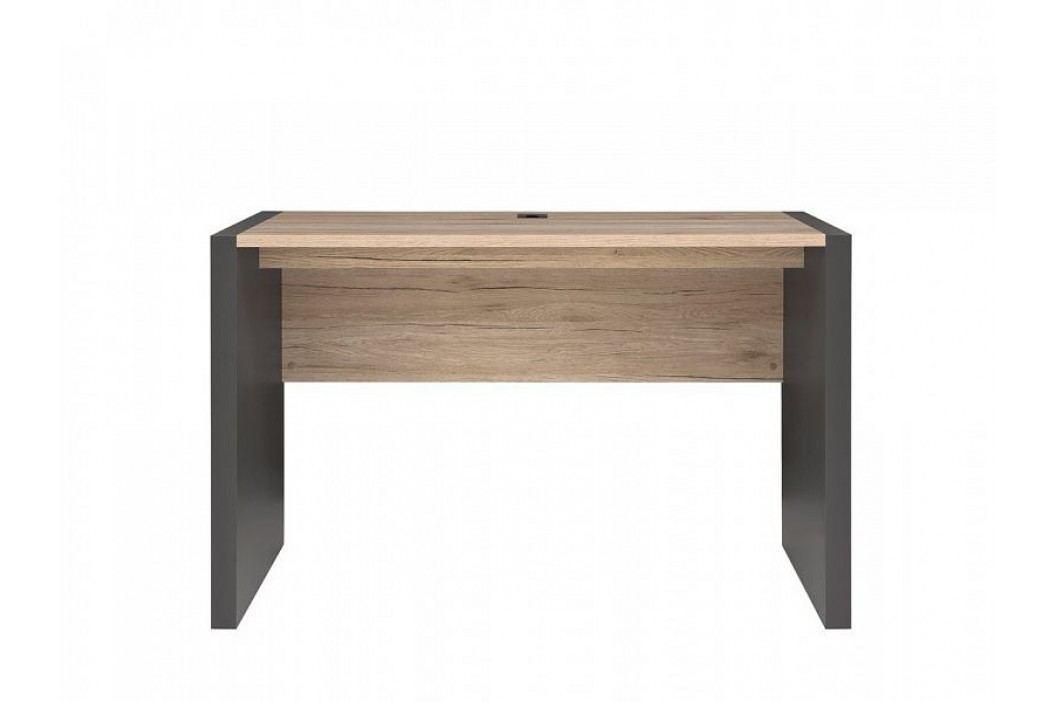 Psací stůl EXECUTIVE BIU/120 v kombinaci dub san remo světlý a šedý wolfram