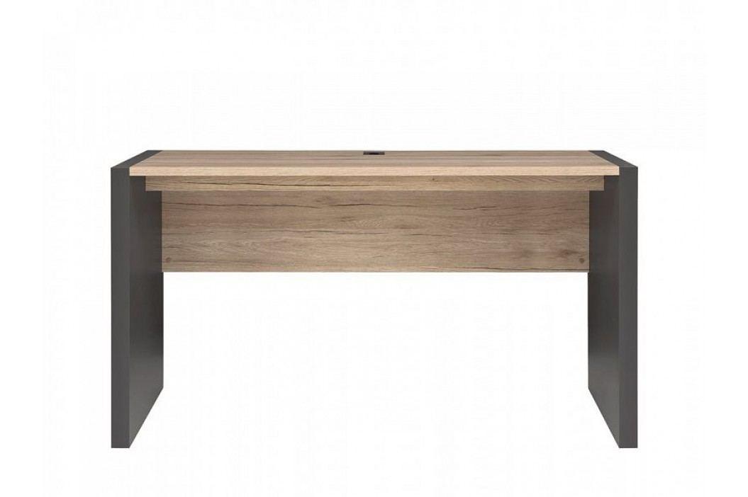 Psací stůl EXECUTIVE BIU/160 v kombinaci dub san remo světlý a šedý wolfram