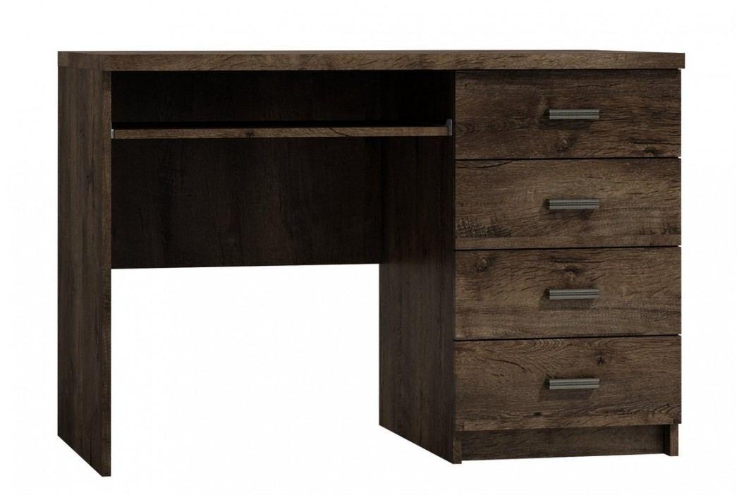 Psací stůl se zásuvkami v moderním dekoru jasan tmavý typ I16 KN089