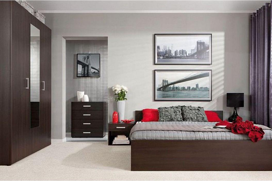 Manželská postel VERA LOZ/160 wenge 160x200 cm
