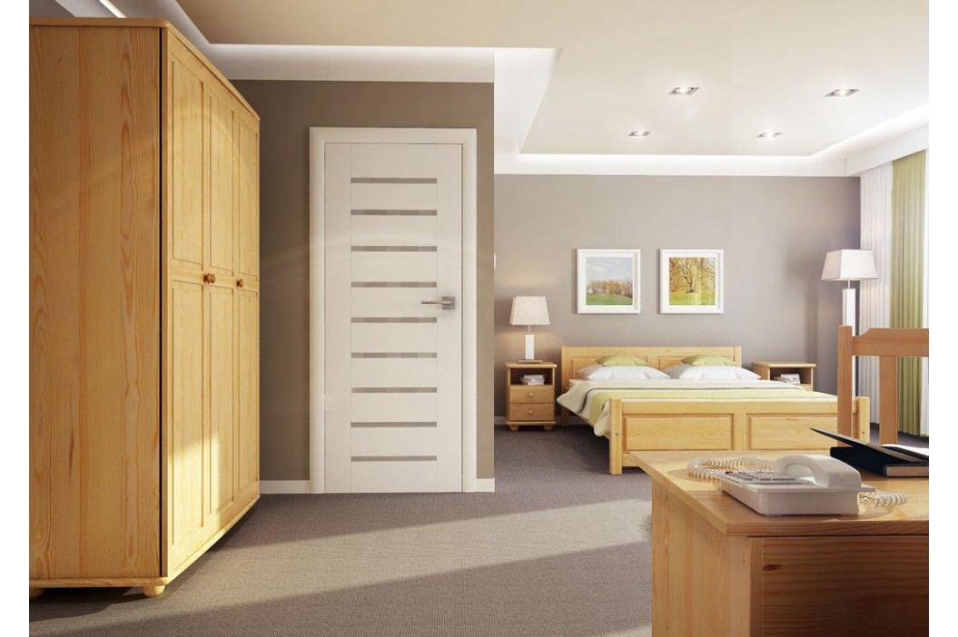 Dřevěná klasická postel o šířce 100 cm typ KL146 KN095