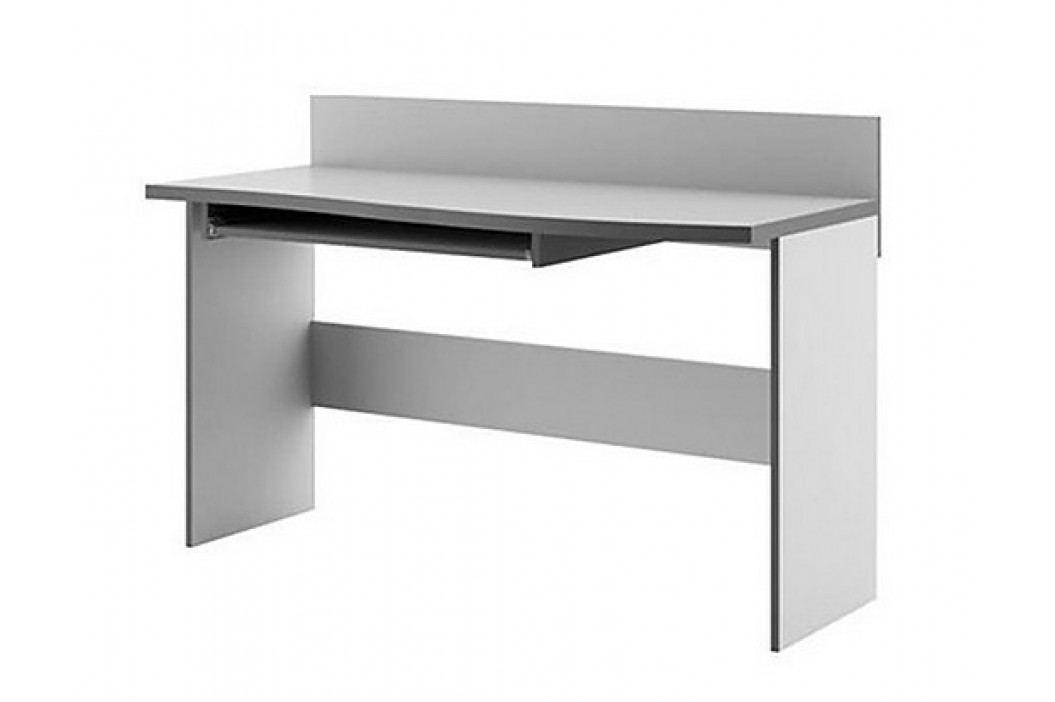 Pracovní stůl s výsuvnou deskou v barevném provedení grafit a šedé barvy typ BR09 KN090