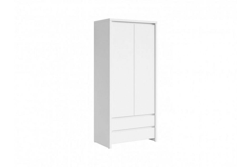 Šatní skříň se zásuvkami KASPIAN SZF2D2S bílá