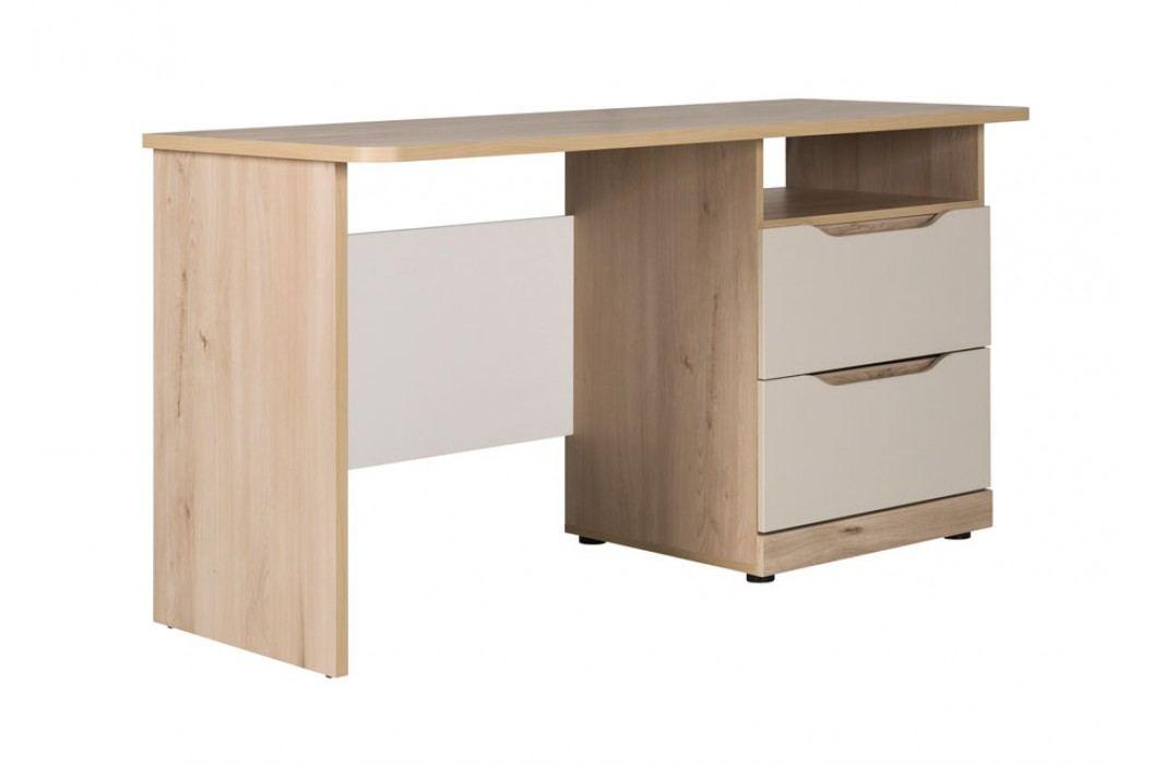 Psací stůl se zásuvky v barevném provedení buk a champagne typ SM 01 KN192