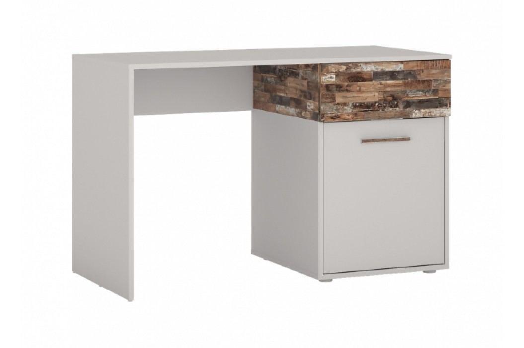 Psací stůl ALIGÁTOR CAYB01 v kombinaci jasan šedý a maracaibo