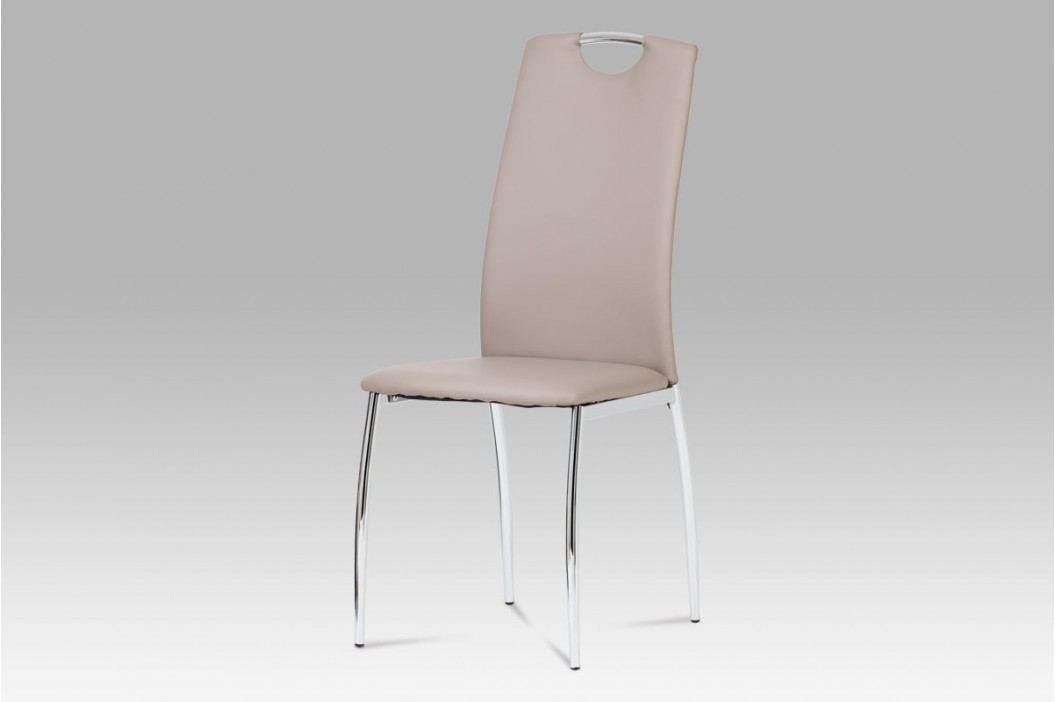 Jídelní židle koženka lanýžová  DCL-419 LAN AKCE