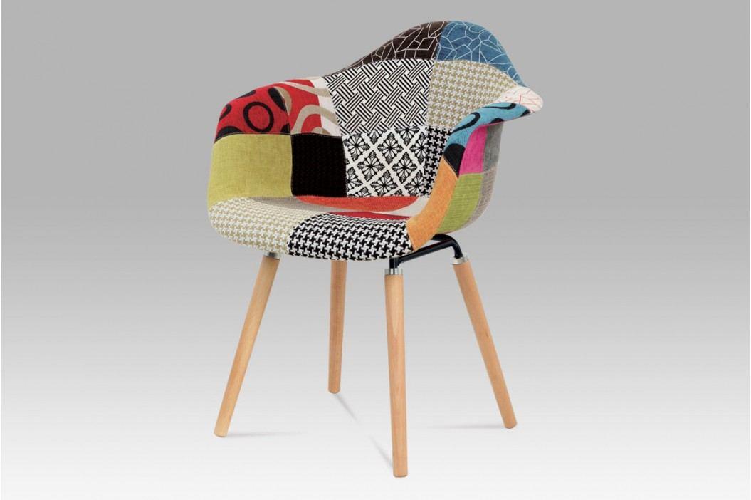 Jídelní židle patchwork / natural CT-723 PW2 AKCE