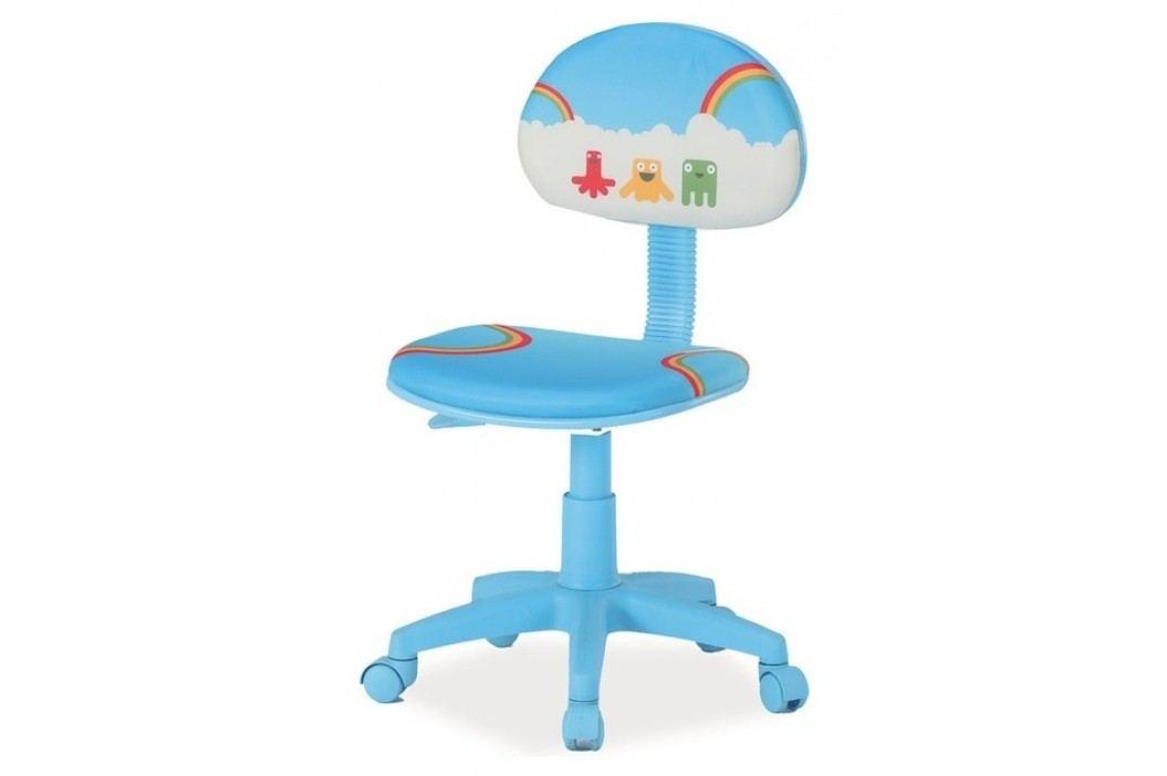 Dětská židle v modré barvě s designem jarní duhy typ 2 KN279