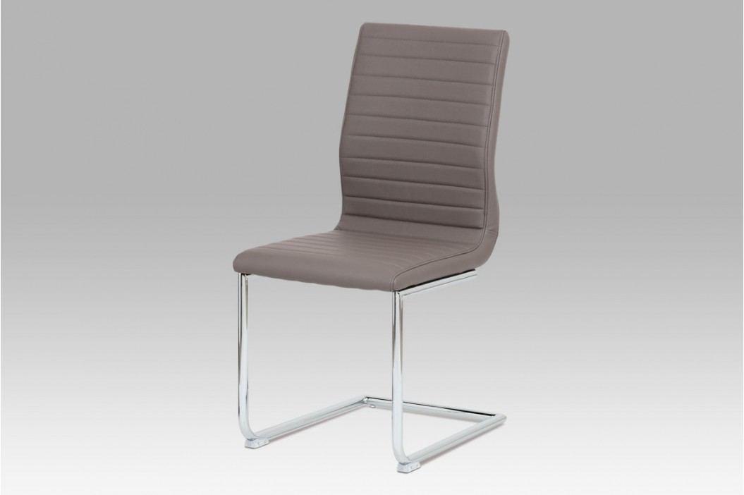 Jídelní židle chrom a ekokůže coffee HC-348 COF1