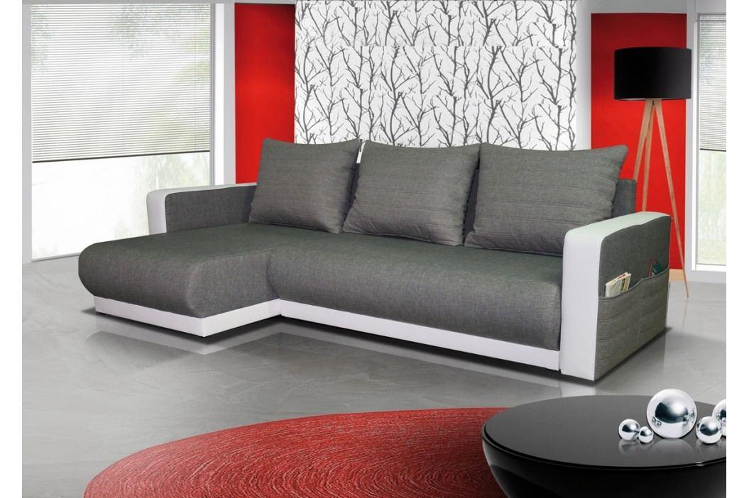 Rozkládací rohová sedačka moderního vzhledu v šedé barvě KN333