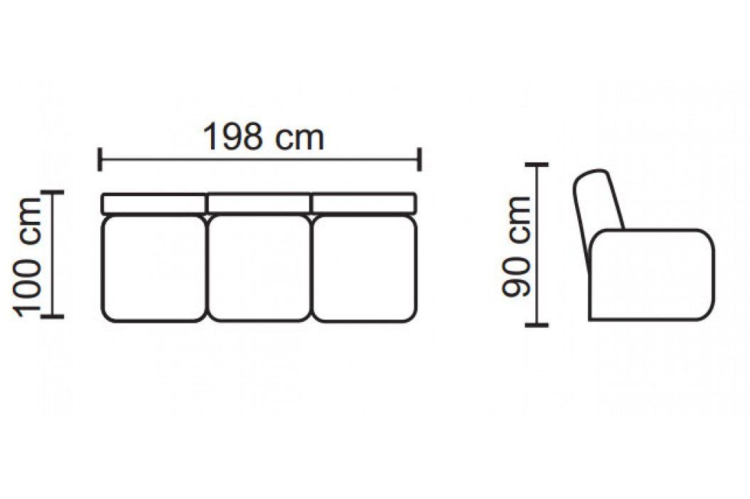 Rozkládací pohovka ve fialové barvě s potiskem s úložným prostorem typ 3 KN1053