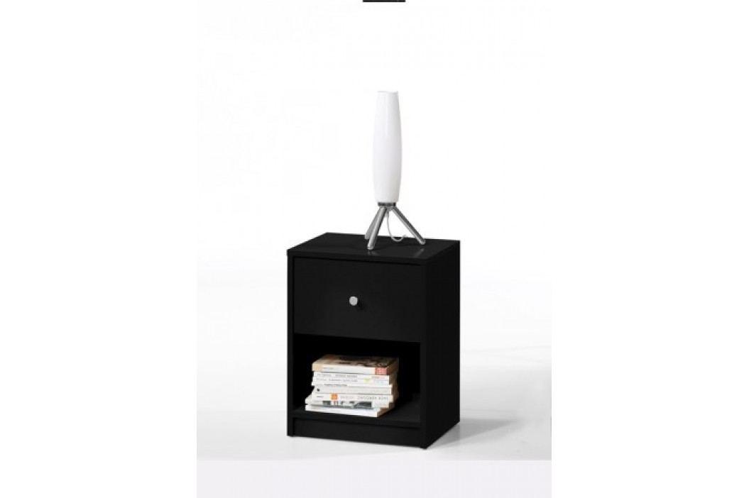 Noční stolek s šuplíkem v černé barvě F1195