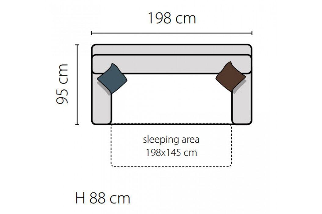 Rozkládací pohovka s možností výběru barvy s polštáři KN644