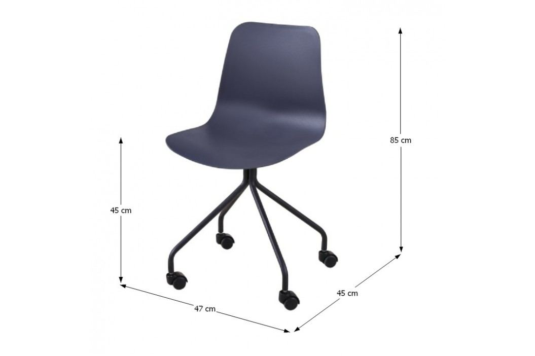 Kancelářská židle v tmavě šedé barvě s plastovým sedákem TK2017