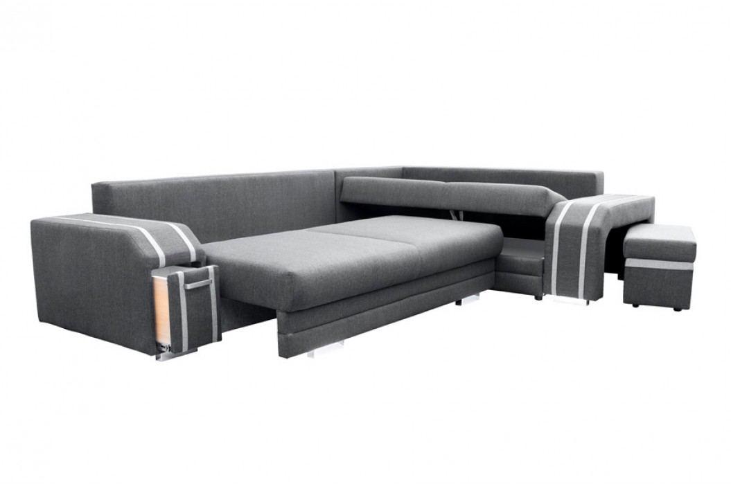 Pohodlná sedací souprava s úložným prostorem v tmavě hnědé barvě levá F1146 obrázek inspirace